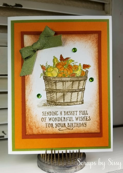 Basket of Wishes – Fall Birthday Card