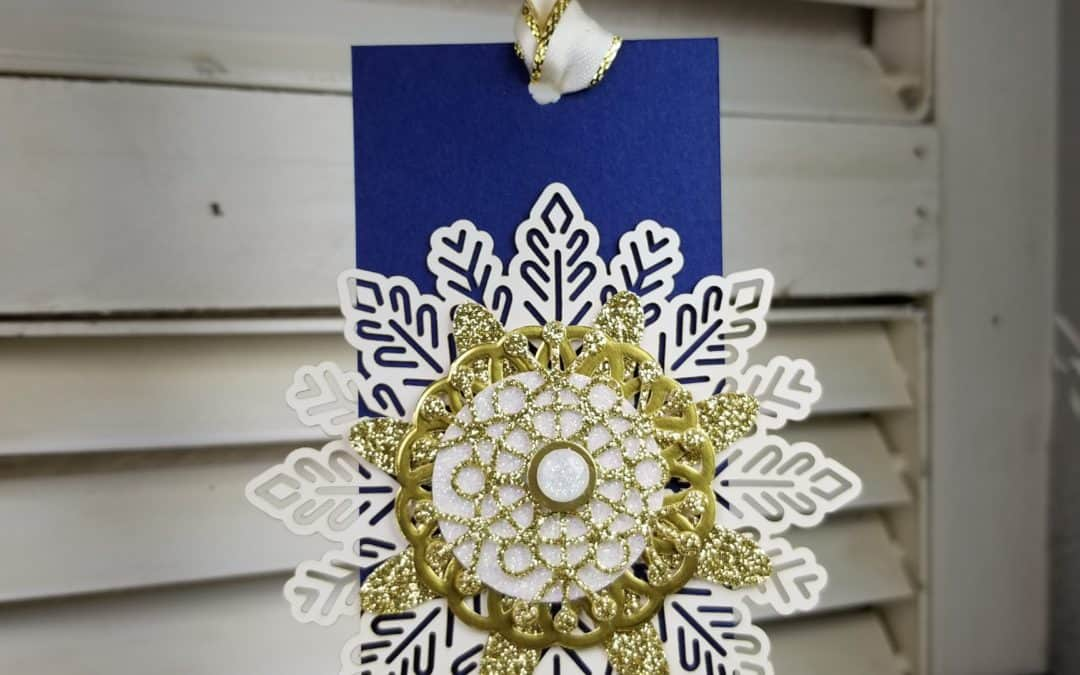 Snowflake Glitter Tag and a Reminder