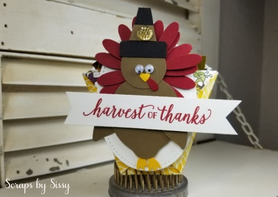 Punch Art Turkey Treat Holder