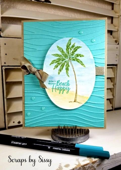 Watercolor Beach Happy