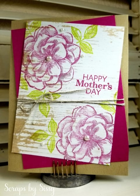 Rustic Mother's Day Card with Paper Pumpkin